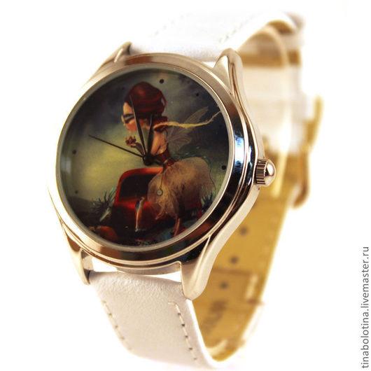 Часы ручной работы. Ярмарка Мастеров - ручная работа. Купить Дизайнерские наручные часы Леди. Handmade. Прикольные часы