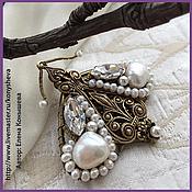 Украшения handmade. Livemaster - original item Brooch Butterfly white moth). Handmade.