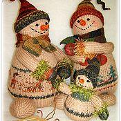 Куклы и игрушки ручной работы. Ярмарка Мастеров - ручная работа Снеговая семейка. Handmade.