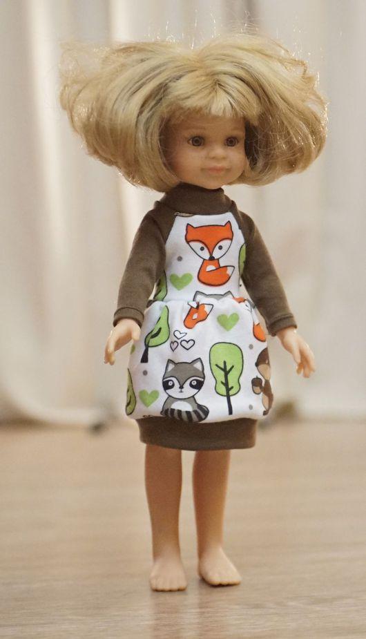 Одежда для кукол ручной работы. Ярмарка Мастеров - ручная работа. Купить Платье на куклу Paola Reina. Handmade. Коричневый