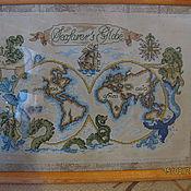 Картины и панно ручной работы. Ярмарка Мастеров - ручная работа Карта путешественника. Handmade.