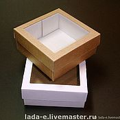 Packing box handmade. Livemaster - original item Box with window. Handmade.