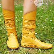 """Обувь ручной работы. Ярмарка Мастеров - ручная работа Оригинальные кожаные мокасины """"Yellow Corn"""". Handmade."""