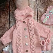 Работы для детей, handmade. Livemaster - original item Knitted Romper for a newborn baby