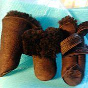 Для домашних животных, ручной работы. Ярмарка Мастеров - ручная работа овчина натуральная сапожки жаркие легкие. Handmade.