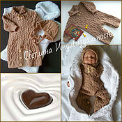 Работы для детей, handmade. Livemaster - original item Set the Teddy Bear in chocolate. Handmade.