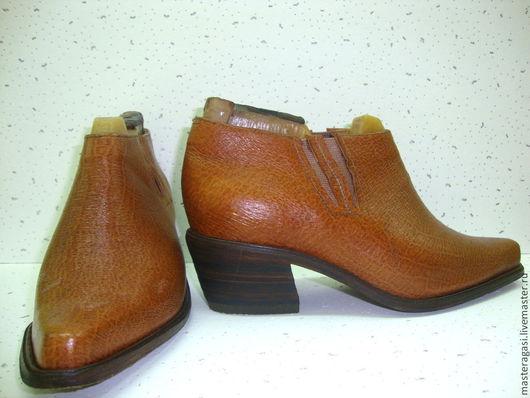 Обувь ручной работы. Ярмарка Мастеров - ручная работа. Купить Полуботинки женские. Handmade. Коричневый, обувь ручной работы, чепрак