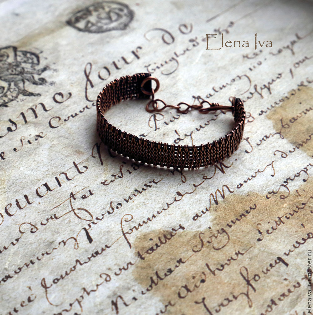 Copper bracelet Knitting – shop online on Livemaster with shipping ...