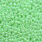 Материалы для творчества handmade. Livemaster - original item 10 grams of 10/0 seed Beads, Czech Preciosa 37154 Premium mint mother of pearl. Handmade.