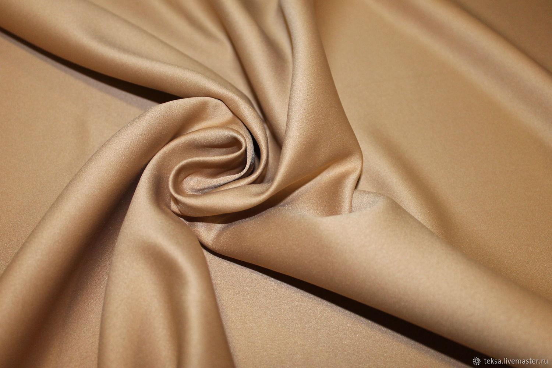 Атлас матовый прокатный цвет № 22 темное золото, Ткани, Видное,  Фото №1