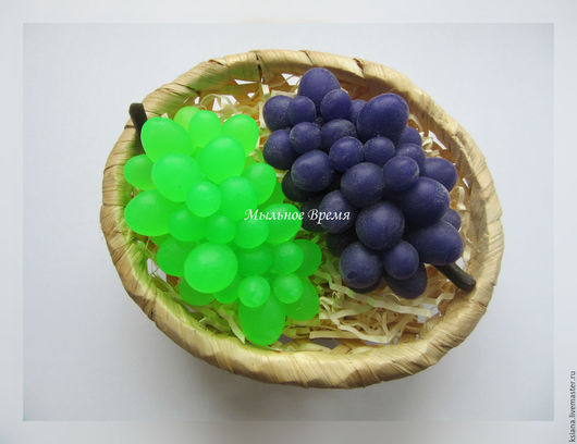 """Мыло ручной работы. Ярмарка Мастеров - ручная работа. Купить Мыло """"Виноград"""". Handmade. Комбинированный, Мыло фруктовое, фрукты"""