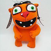 Куклы и игрушки handmade. Livemaster - original item Soft toy plush red cat pilot with glasses. Handmade.