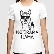"Одежда handmade. Livemaster - original item Футболка хлопковая ""No Drama Llama"". Handmade."