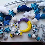 """Мягкие игрушки ручной работы. Ярмарка Мастеров - ручная работа Мобиль """"Мишки тедди"""". Handmade."""