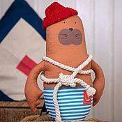 Куклы и игрушки handmade. Livemaster - original item Seal Jacques-Yves the submariner. 41cm. Handmade.