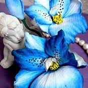 """Свадебный салон ручной работы. Ярмарка Мастеров - ручная работа Орхидея """"Мильтония"""" из японского бархата.. Handmade."""