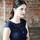 Платья ручной работы. Валяное платье «Синяя птица». Irina Demchenko. Ярмарка Мастеров. Маленькое платье, необыкновенное платье