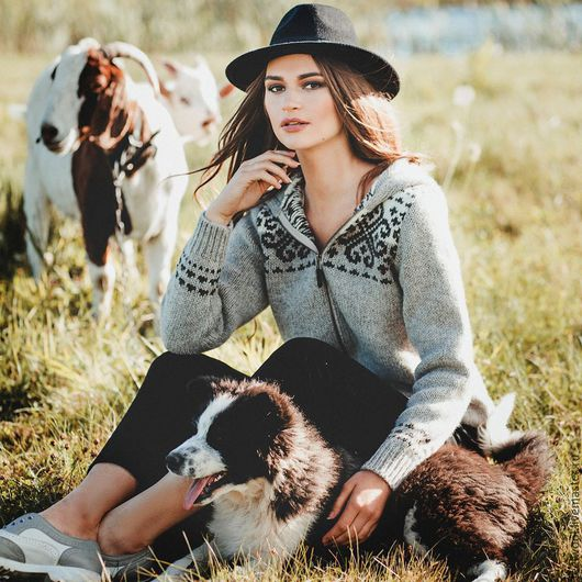 Кофты и свитера ручной работы. Ярмарка Мастеров - ручная работа. Купить Свитер женский из 100% новозеландской шерсти.. Handmade. Серый