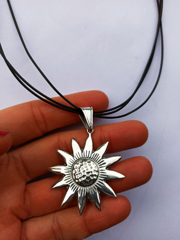 Sunflower pendant 925 sterling Silver, Pendant, Turin,  Фото №1