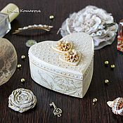 Свадебный салон handmade. Livemaster - original item Jewelry box for rings heart shape. Handmade.