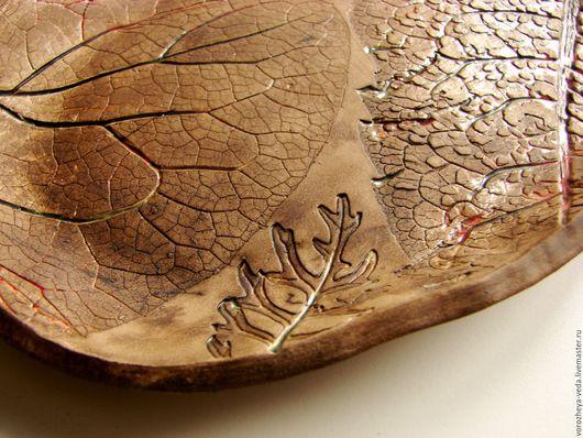 """Тарелки ручной работы. Ярмарка Мастеров - ручная работа. Купить Тарелка """"Следы на песке"""". Handmade. Коричневый, керамика ручной работы"""
