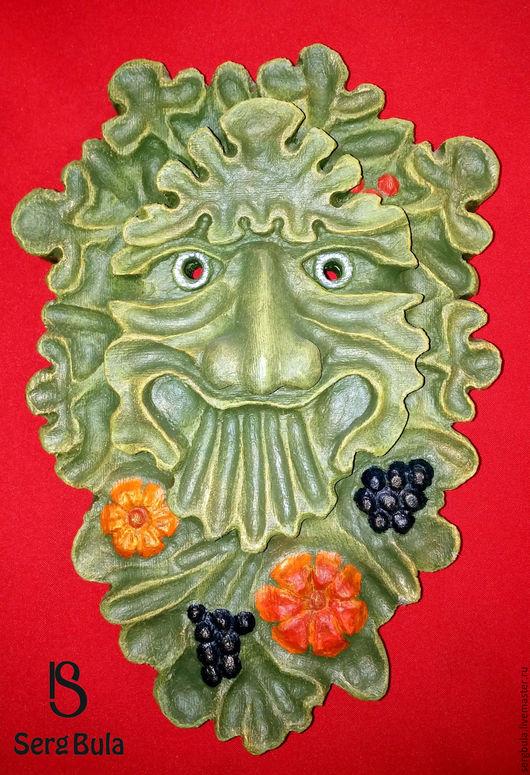 """Интерьерные  маски ручной работы. Ярмарка Мастеров - ручная работа. Купить Маска """"Лесное Добродушие"""". Handmade. Зеленый, липа"""