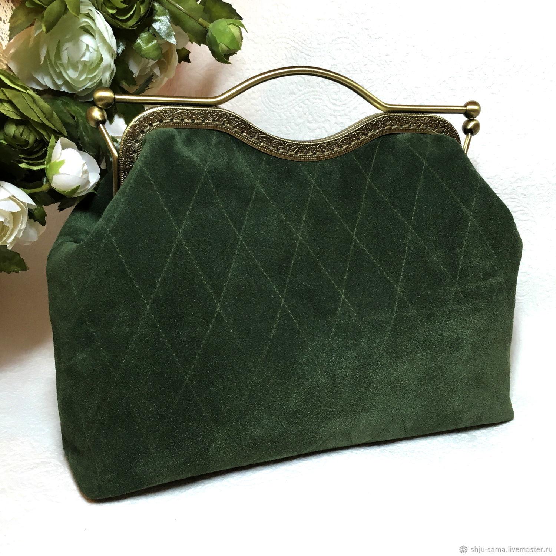 545aa539e960 Женские сумки ручной работы. Ярмарка Мастеров - ручная работа. Купить  Саквояж малый из замши ...