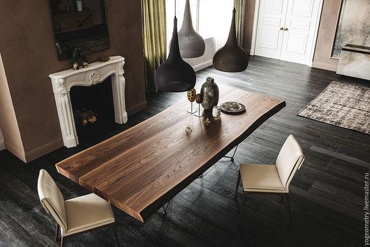Мебель ручной работы. Ярмарка Мастеров - ручная работа. Купить Стол из массива дерева. Handmade. Коричневый, столовая, дерево, карагач