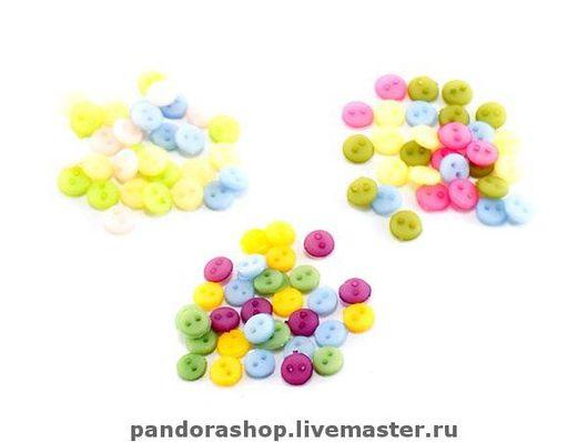 4 мм (пуговки круглые, 30 штук в наборе) - 130 рублей