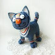 Куклы и игрушки ручной работы. Ярмарка Мастеров - ручная работа Синий кот Нарядный II. Handmade.