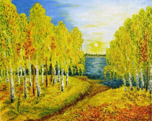 """Пейзаж ручной работы. Ярмарка Мастеров - ручная работа. Купить """"Зосенька"""". Handmade. Разноцветный, пейзаж, осенние краски, масляные краски"""