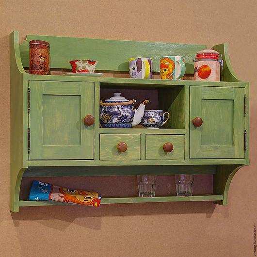 Мебель ручной работы. Ярмарка Мастеров - ручная работа. Купить Кухонный шкафчик. Handmade. Зеленый, ручная работа, лак