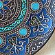 Декоративная посуда ручной работы. Ярмарка Мастеров - ручная работа. Купить Декоративная тарелка с имитацией металла. Handmade. Ручная роспись
