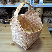 Для дома и интерьера handmade. Livemaster - original item Birch bark basket large wicker. Basket for berries, mushrooms. Handmade.