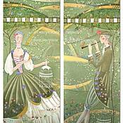 Для дома и интерьера ручной работы. Ярмарка Мастеров - ручная работа Шторы-картины с ручной росписью Пастораль. Handmade.