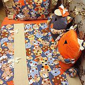 Подарок новорожденному ручной работы. Ярмарка Мастеров - ручная работа Комплект постельного белья с игрушками-подушками. Handmade.