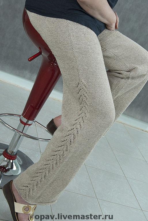 """Брюки, шорты ручной работы. Ярмарка Мастеров - ручная работа. Купить Брюки """"Ленок"""". Handmade. Вязанные брюки, льняные брюки"""
