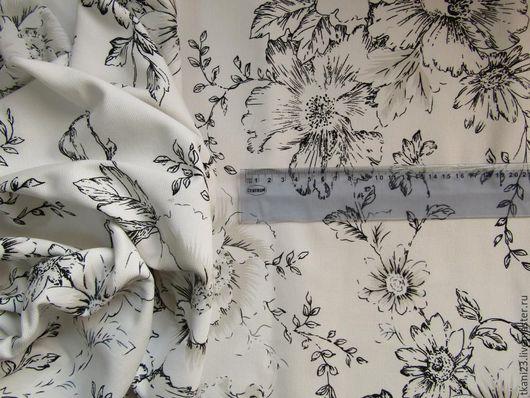 Шитье ручной работы. Ярмарка Мастеров - ручная работа. Купить Парусина арт.2 ДЖ-1 (Корея) принт на белом. Handmade.