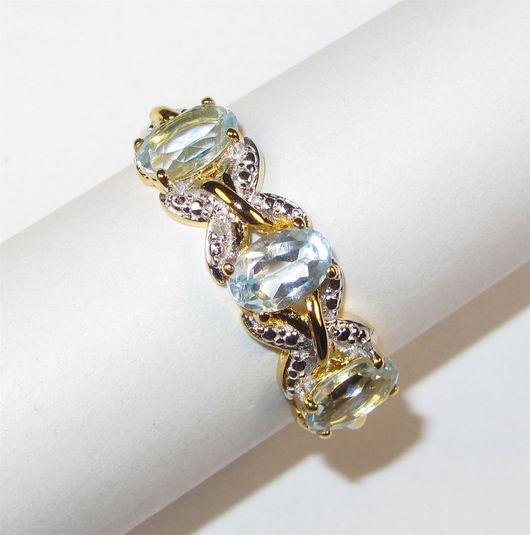 Кольца ручной работы. Ярмарка Мастеров - ручная работа. Купить С топазом серебряное кольцо. Handmade. Голубой, голубой камень