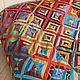 """Текстиль, ковры ручной работы. Ярмарка Мастеров - ручная работа. Купить Большое лоскутное покрывало """"Карнавал"""" в стиле пэчворк. Handmade."""