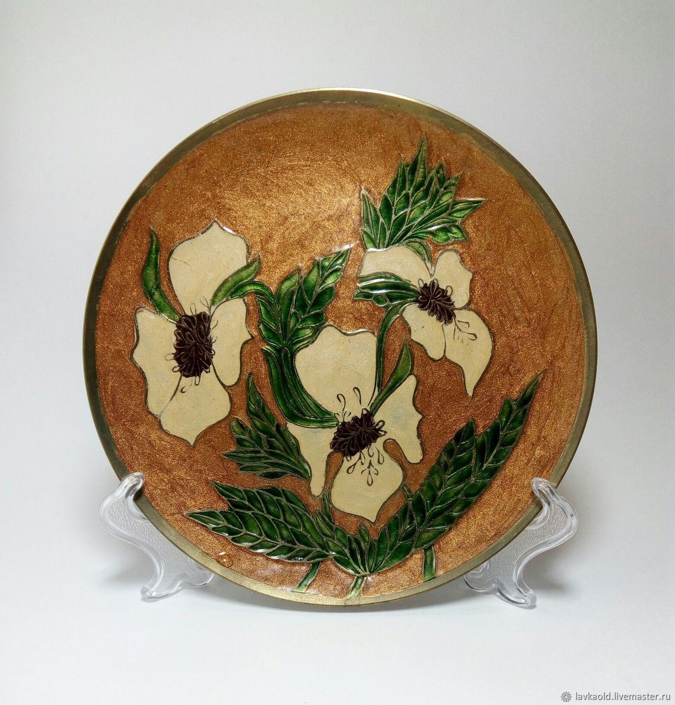 Винтаж: Винтажные тарелки: Винтажная латунная тарелочка, Тарелки винтажные, Санкт-Петербург,  Фото №1