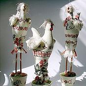 Для дома и интерьера ручной работы. Ярмарка Мастеров - ручная работа Курочка к Пасхе. Handmade.