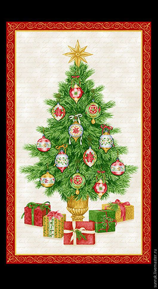 """Шитье ручной работы. Ярмарка Мастеров - ручная работа. Купить Купон ткани для пэчворка из коллекции """"Элегантное рождество"""", Дания. Handmade."""