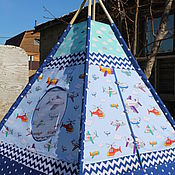 "Для дома и интерьера handmade. Livemaster - original item Wigwam for children ""Pilot"". Handmade."