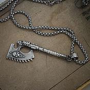 Украшения handmade. Livemaster - original item Chain axe pendant. Warhammer 40,000. brass silver Nickel silver.. Handmade.