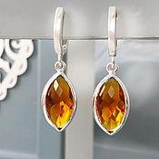 Украшения handmade. Livemaster - original item Earrings in sun Topaz silver earrings precious elegant. Handmade.