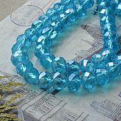 Материалы для творчества handmade. Livemaster - original item Roundels, 8 mm aquamarine. Handmade.