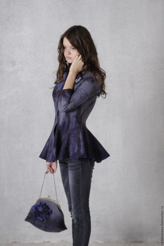 Felted jacket 'Misty morning', Suit Jackets & Blazers handmade, Losino-Petrovsky, Фото №1