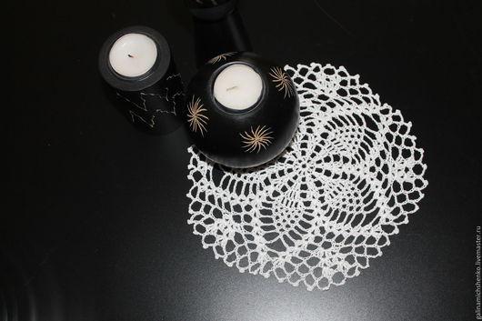 Текстиль, ковры ручной работы. Ярмарка Мастеров - ручная работа. Купить Салфетка № 196. Handmade. Белый, салфетка крючком