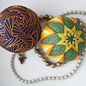 Для дома и интерьера ручной работы. Ярмарка Мастеров - ручная работа Мяч темари для Принца и Принцессы. Handmade.